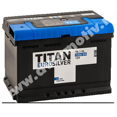 Автомобильный аккумулятор Titan EUROSILVER 76.1 фото 400x400