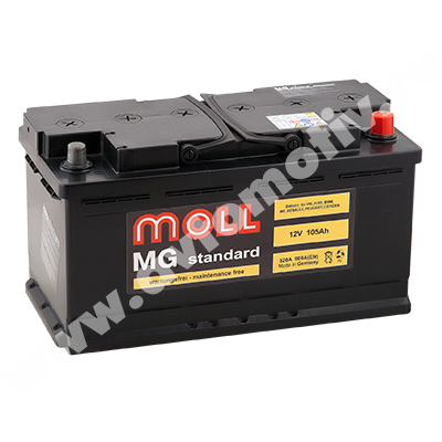 Автомобильный аккумулятор MOLL MG Standart 105.0 (R) фото 400x400