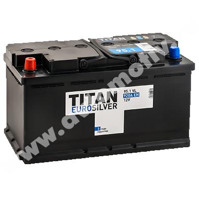 Автомобильный аккумулятор Titan EUROSILVER 95.1 фото 400x400