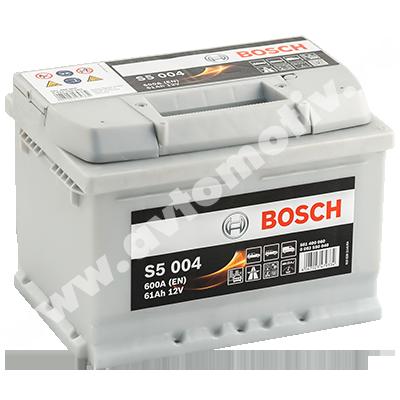 Автомобильный аккумулятор Bosch S5 61.0 низкий фото 400x400