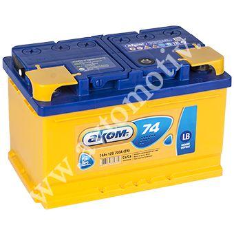 Автомобильный аккумулятор Аком LB 74.0  низкий фото 340x340