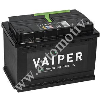 Автомобильный аккумулятор VAIPER 75.0 фото 340x340