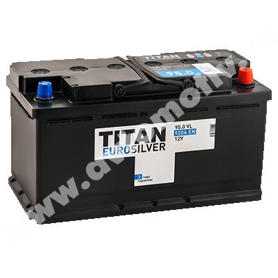 Автомобильный аккумулятор Titan EUROSILVER 95.0 фото 400x400