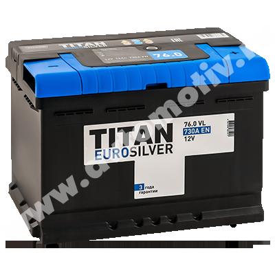 Автомобильный аккумулятор Titan EUROSILVER 76.0 фото 400x400
