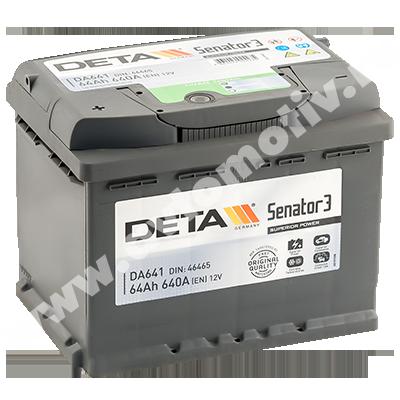 Автомобильный аккумулятор DETA Senator 64.1 фото 400x400