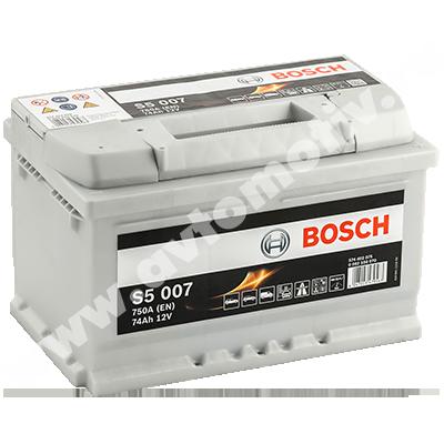 Автомобильный аккумулятор Bosch S5 74.0 низкий фото 400x400