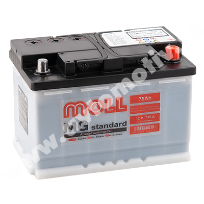 Автомобильный аккумулятор MOLL MG Standart 75.0 (R) фото 400x400