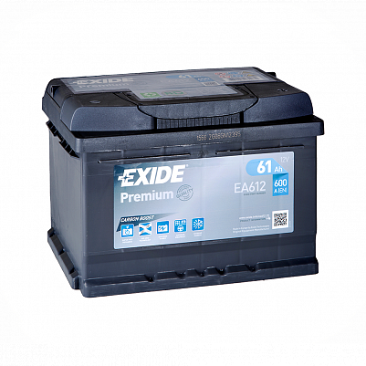 Автомобильный аккумулятор Exide Premium 61.0 (EA612)  низкий фото 401x401