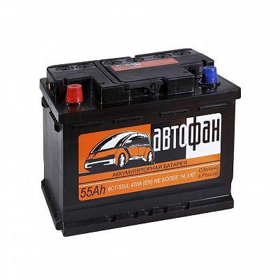 Автомобильный аккумулятор Автофан 55.1 фото 401x401