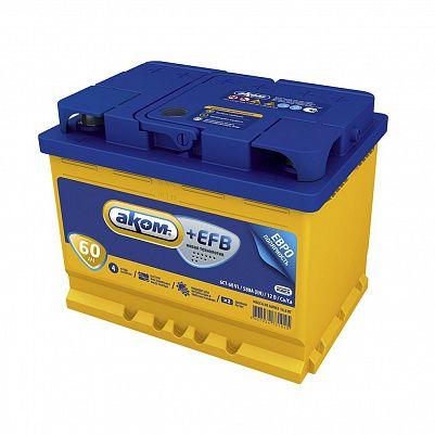 Автомобильный аккумулятор Аком + EFB 60.0 фото 401x401