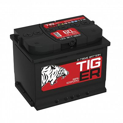 Автомобильный аккумулятор Tiger Xtreme (Тюмень) 60.0 обр фото 401x401