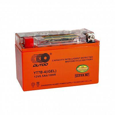 Мото аккумулятор 6,5Ah OUTDO YT7B-BS iGEL фото 401x401