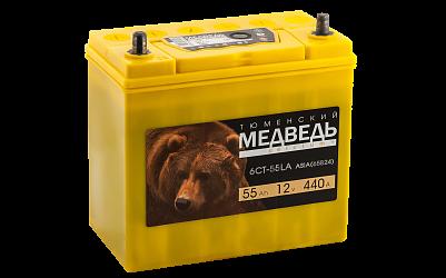 Автомобильный аккумулятор Тюменский Медведь  65В24R (55) фото 401x250