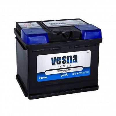 Автомобильный аккумулятор VESNA Power 60.0 L2 фото 401x401
