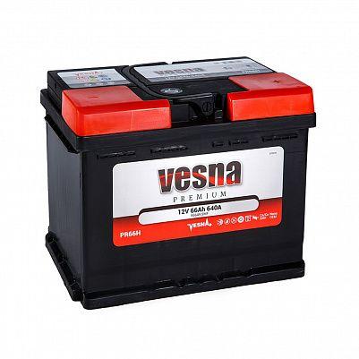 Автомобильный аккумулятор VESNA Premium 66.0 L2 фото 401x401