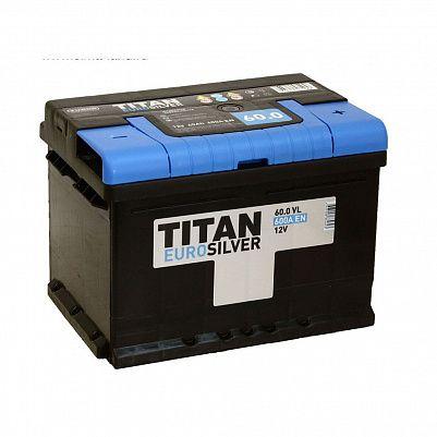 Автомобильный аккумулятор Titan EUROSILVER 60.0 фото 401x401