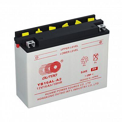 Мото аккумулятор 16Ah OUTDO YB16AL-A2 с/з+эл-лит фото 401x401