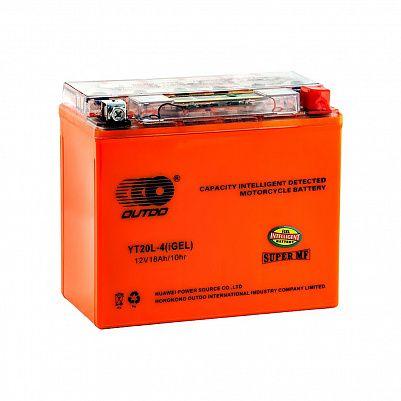Мото аккумулятор 18Ah OUTDO YT20L-4 iGEL фото 401x401