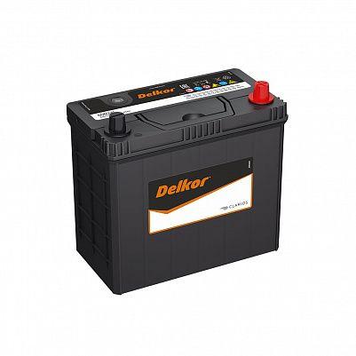 Автомобильный аккумулятор DELKOR 60B24L (45) обр фото 401x401