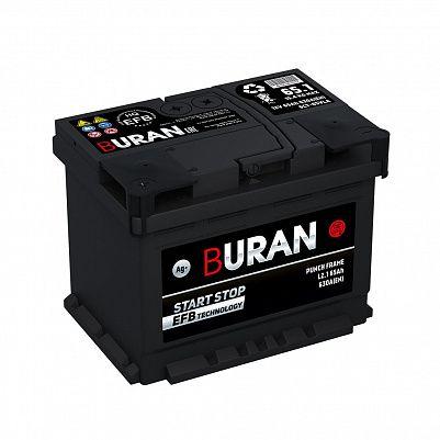 Автомобильный аккумулятор BURAN EFB 65.1 фото 401x401