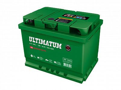 Автомобильный аккумулятор Ultimatum EFB 60.1 фото 401x300