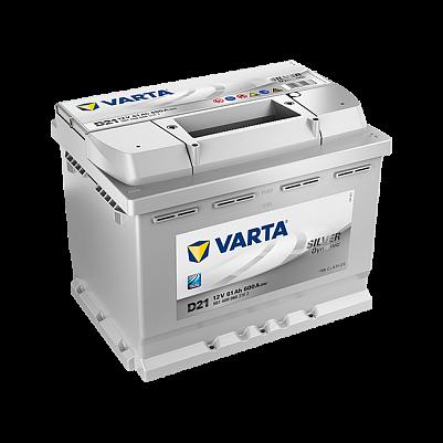 Varta D21 Silver Dynamic (561 400 060) 12v 61Ah 600A низкий фото 401x401
