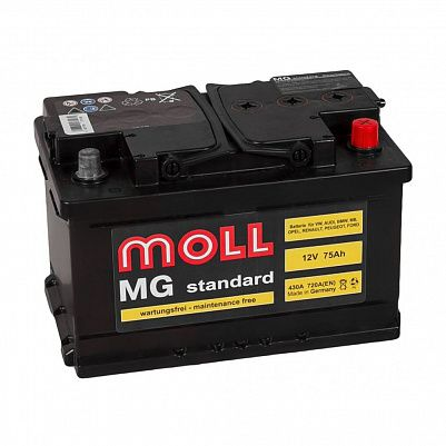 Автомобильный аккумулятор MOLL MG Standart 75.0 (SR) фото 401x401