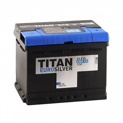 Автомобильный аккумулятор Titan EUROSILVER 65.0 фото 401x401