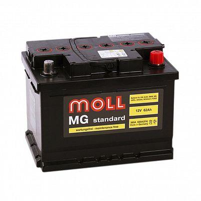 Автомобильный аккумулятор MOLL MG Standart 62.0 (R) фото 401x401