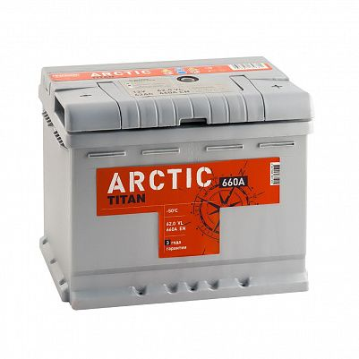 Автомобильный аккумулятор Titan ARCTIC 62.0 фото 401x401