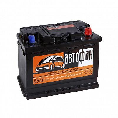 Автомобильный аккумулятор Автофан 55.0 фото 401x401