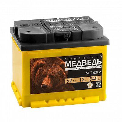 Автомобильный аккумулятор Тюменский Медведь 62.0 фото 401x401