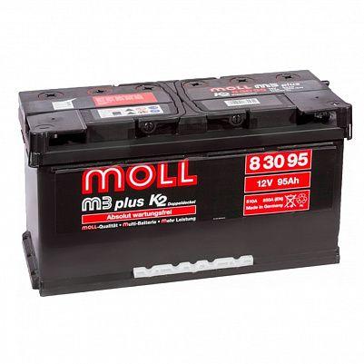 Автомобильный аккумулятор MOLL M3 plus 95.0 фото 401x401