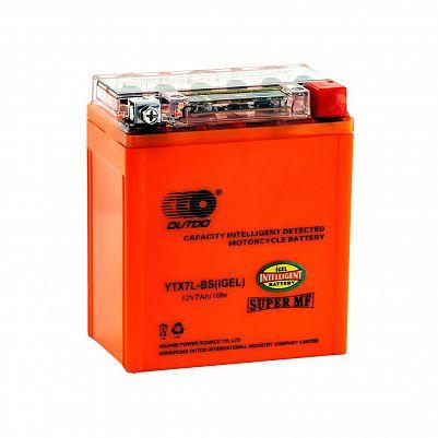 Мото аккумулятор 7Ah OUTDO UTX7L(YTX7L)-BS iGEL фото 401x401
