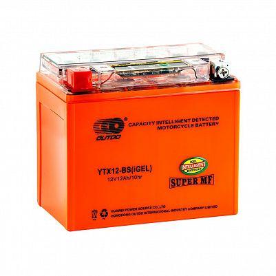 Мото аккумулятор 12Ah OUTDO UTX12(YTX12)-BS iGEL фото 401x401
