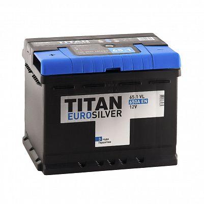 Автомобильный аккумулятор Titan EUROSILVER 65.1 фото 401x401