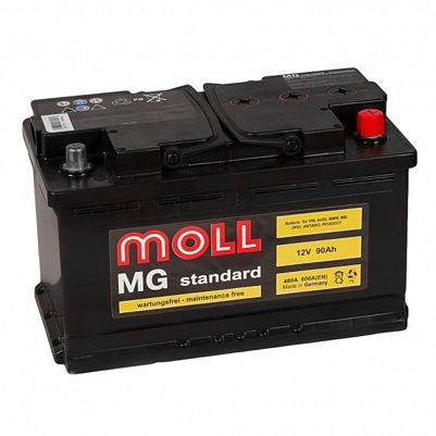 Автомобильный аккумулятор MOLL MG Standart 90.0 (R) фото 401x401