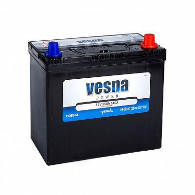 Автомобильный аккумулятор VESNA Power 55 (B24L) с перех фото 401x401
