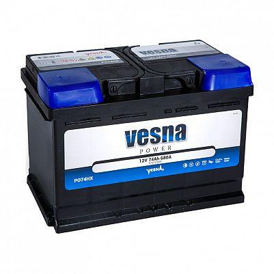 Автомобильный аккумулятор VESNA Power 74.1 L3 фото 401x401