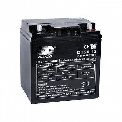 Аккумулятор OUTDO VRLA 12v  26Ah (OT26-12) фото 401x401