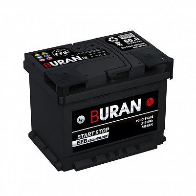 Автомобильный аккумулятор BURAN EFB 60.0 фото 401x401