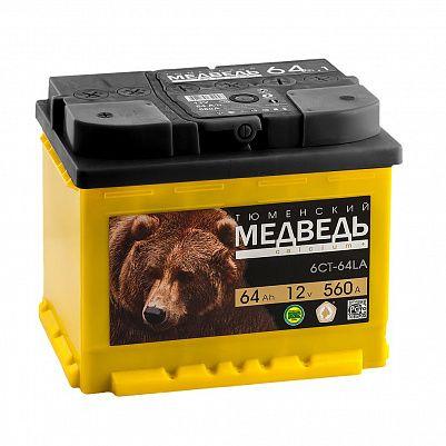 Автомобильный аккумулятор Тюменский Медведь 64.1 фото 401x401