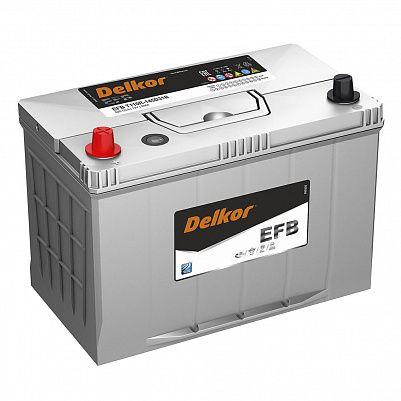 Аккумулятор автомобильный DELKOR EFB 145D31R пр фото 401x401