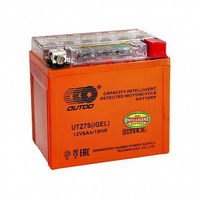 Мото аккумулятор 6Ah OUTDO YTZ7S iGEL фото 401x401
