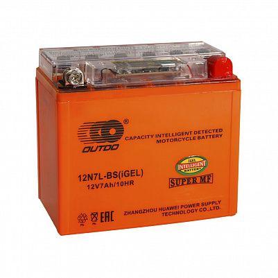 Мото аккумулятор 7Ah OUTDO 12N7L-BS iGEL (8Ah) фото 401x401
