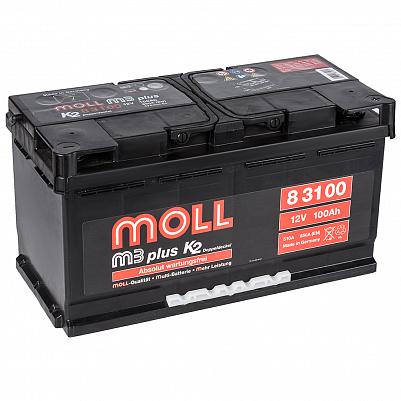 Автомобильный аккумулятор MOLL M3 plus 100.0 фото 401x401