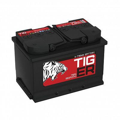 Автомобильный аккумулятор Tiger X-treme (Тюмень) 75.1 пр фото 401x401