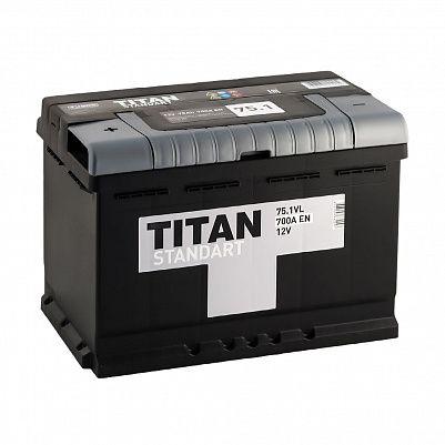Автомобильный аккумулятор TITAN Standart 75.1 фото 401x401