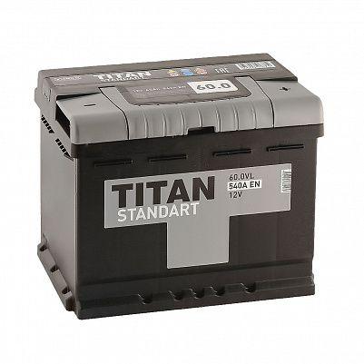 Автомобильный аккумулятор TITAN Standart 60.0 фото 401x401