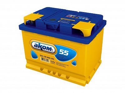 Автомобильный аккумулятор Аком 55.0 фото 401x300